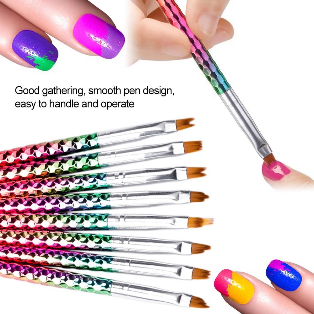 8pcs Nail Art Painting Brush French Nail Painting Pen Nail Drawing