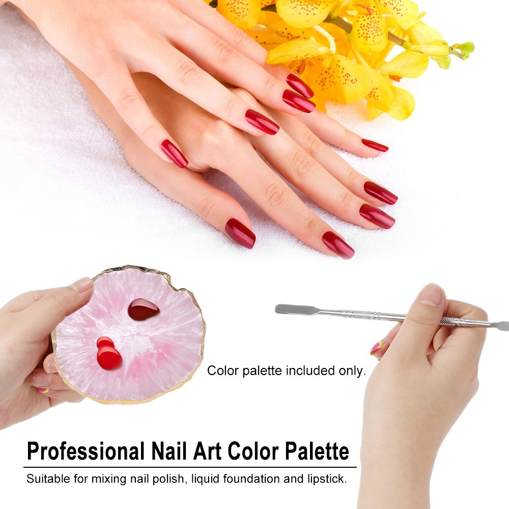 Nail Art Color Palette Manicure Blending Palette Nail Color Mixing