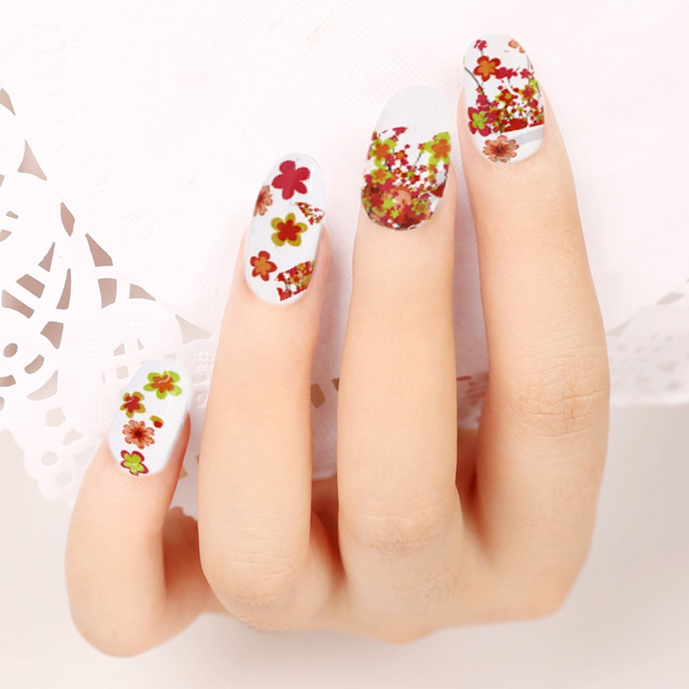 50 Sheets Nail Art Flower Water Transfer Stickers Nail-wraps Nail ...