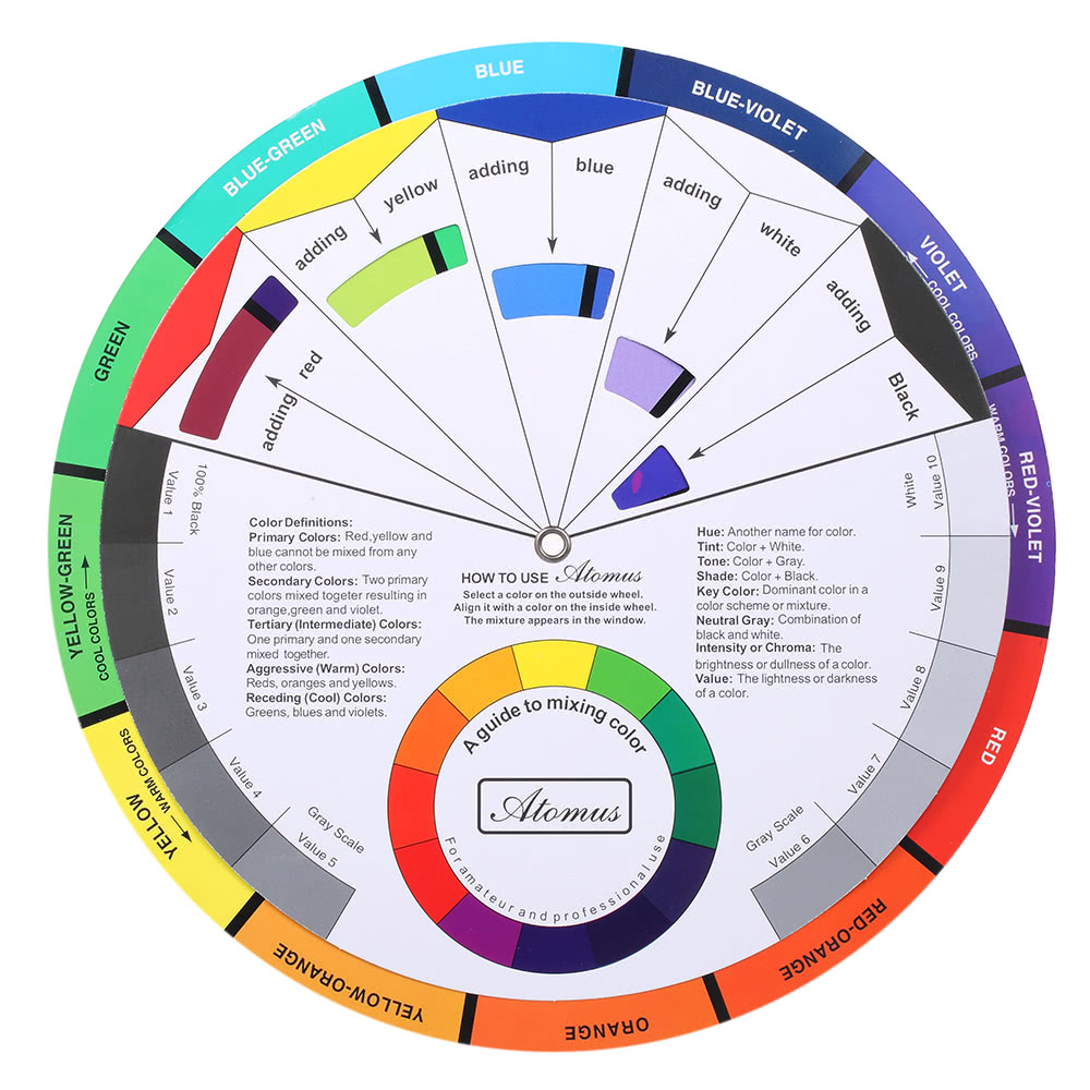 Tattoo pigment color wheel chart color mix guide supplies for Tattoo ink color chart