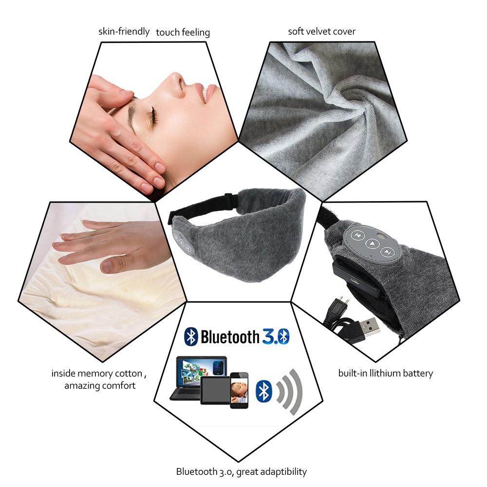 Senza fili bluetooth 3 0 ricaricabile dorme occhio for Cuffie insonorizzanti per dormire