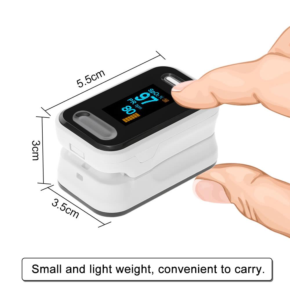 Portable Digital Oximeter Blood Oxygen Sensor OLED Display SpO2 Fingertip  Pulse Auto Power off Instant Read Saturation Heart Rate Monitor Meter
