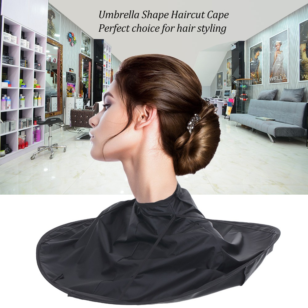 Foldable Haircut Cape Salon Barber A Umbrella Hair Coloring Cloak Cutting Scarf Hairdressing Tool For Child