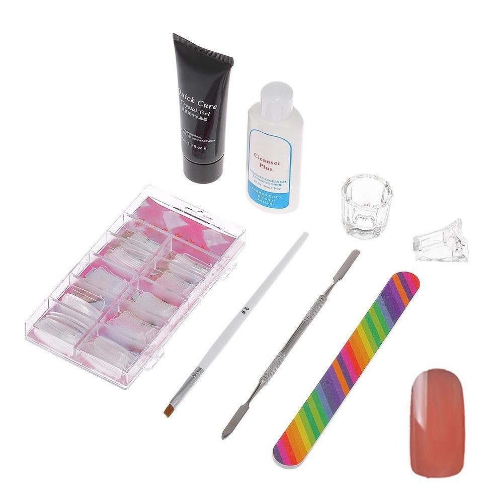 8pcs Professional Manicure Tools Kit Nail Extension Tool Set Nail ...