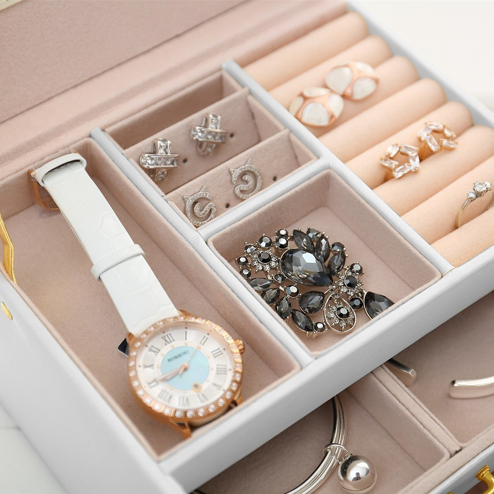 Fashionable PU Leather Jewelry Box