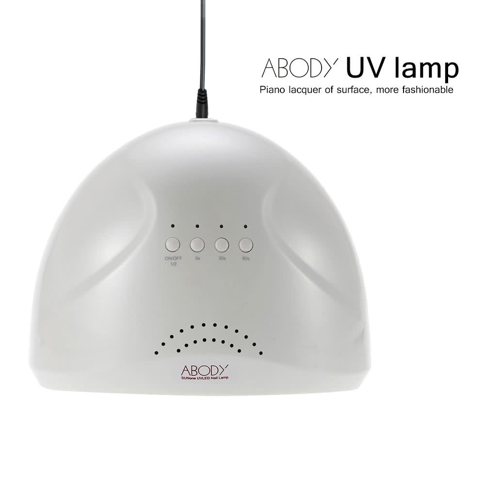Abody SUNone 24/48W LED UV Lamp Nail Polish Dryer Fingernail ...