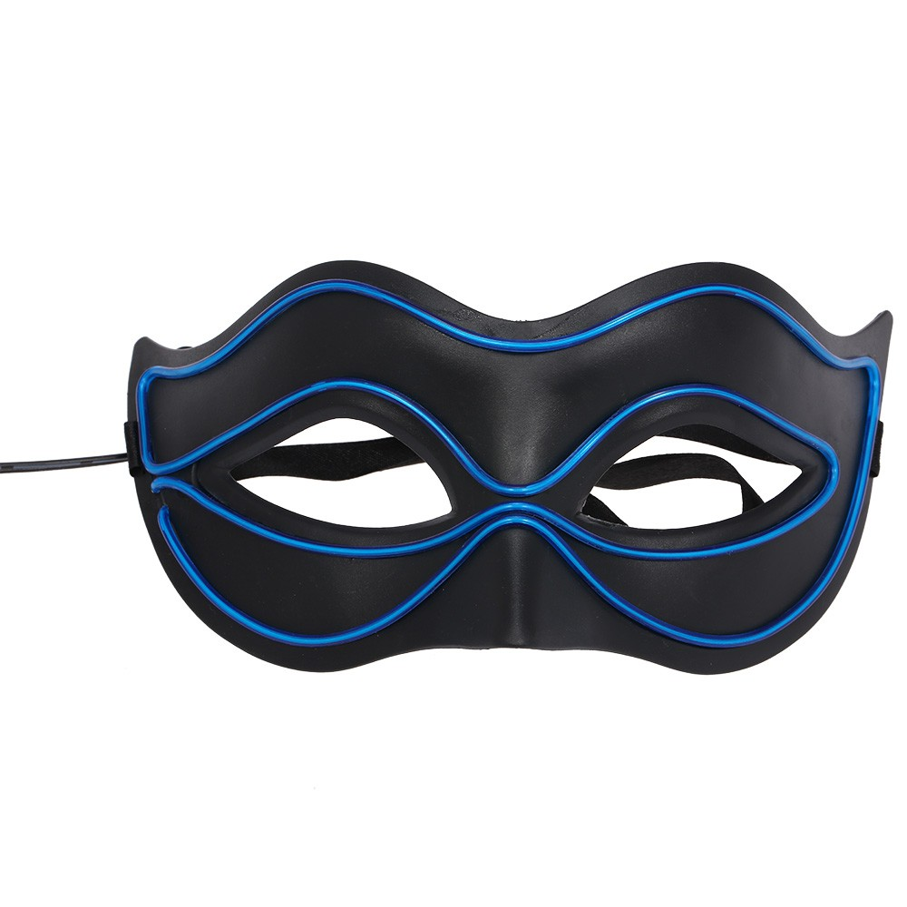 Fox Glowing Mask Wire Led Sexy Half Face Flash Masks Sales Clip Art Car Wiring Harness Online Blue Tomtop