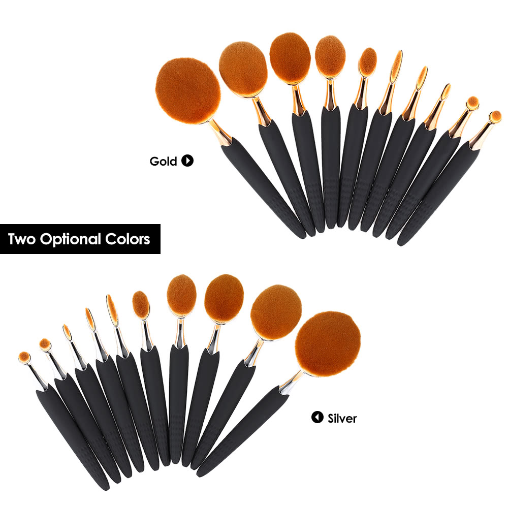 a38efe7a2aef 10Pcs Bee-Shaped Makeup Brushes Kit Nylon Hair Powder Concealer Foundation  Eyeshadow Blush Lip Highlight Brush Sales Online silver - Tomtop