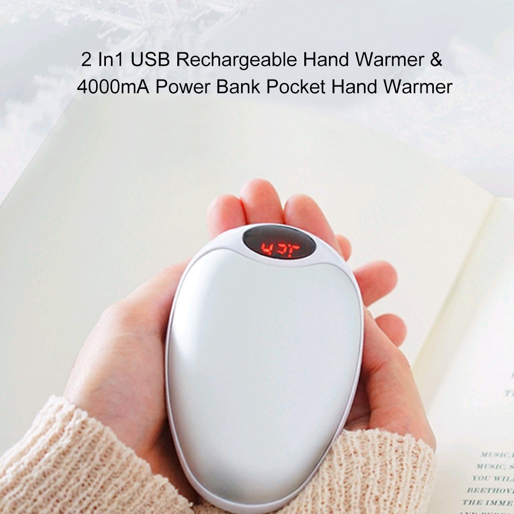 2 In 1 Pocket Hand Warmer (Hand Warmer and Power Bank)