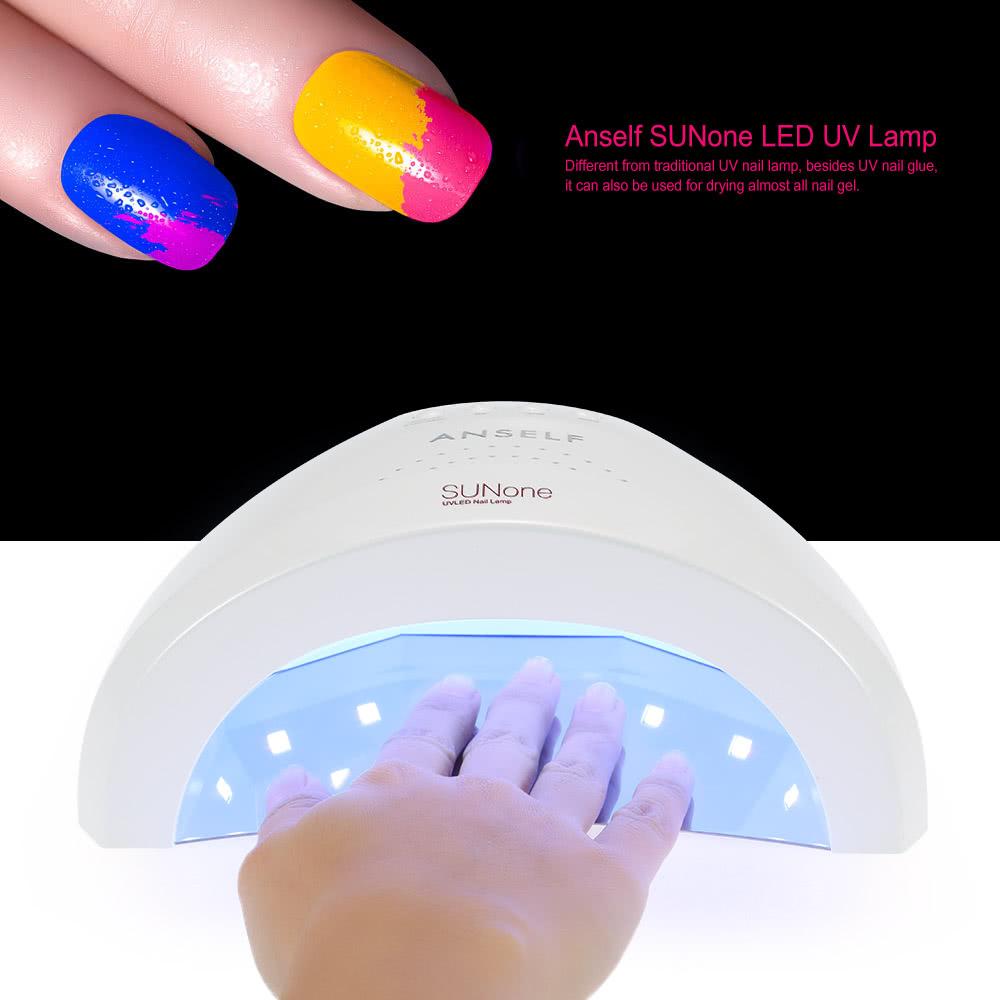 Anself SUNone LED UV Lamp Nail Polish Dryer Fingernail & Toenail Gel ...