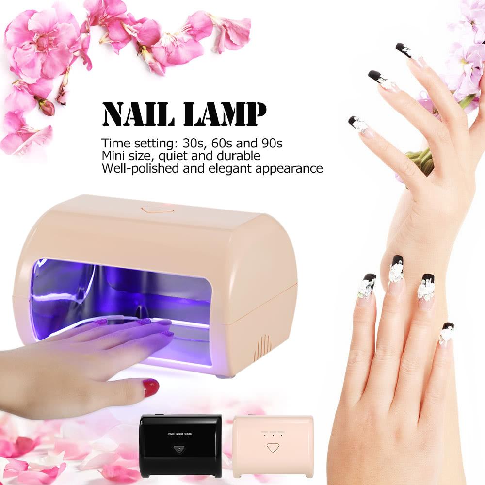 9W LED Nail Lamp Fingernail Toenail Gel Curing Nail Dryer ...