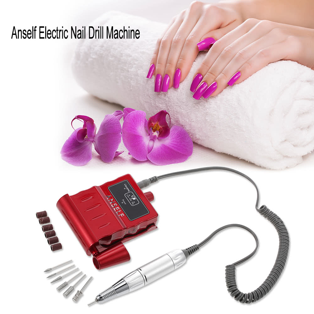Anself Electric Nail Drill Machine Portable Acrylic Nail Mini ...