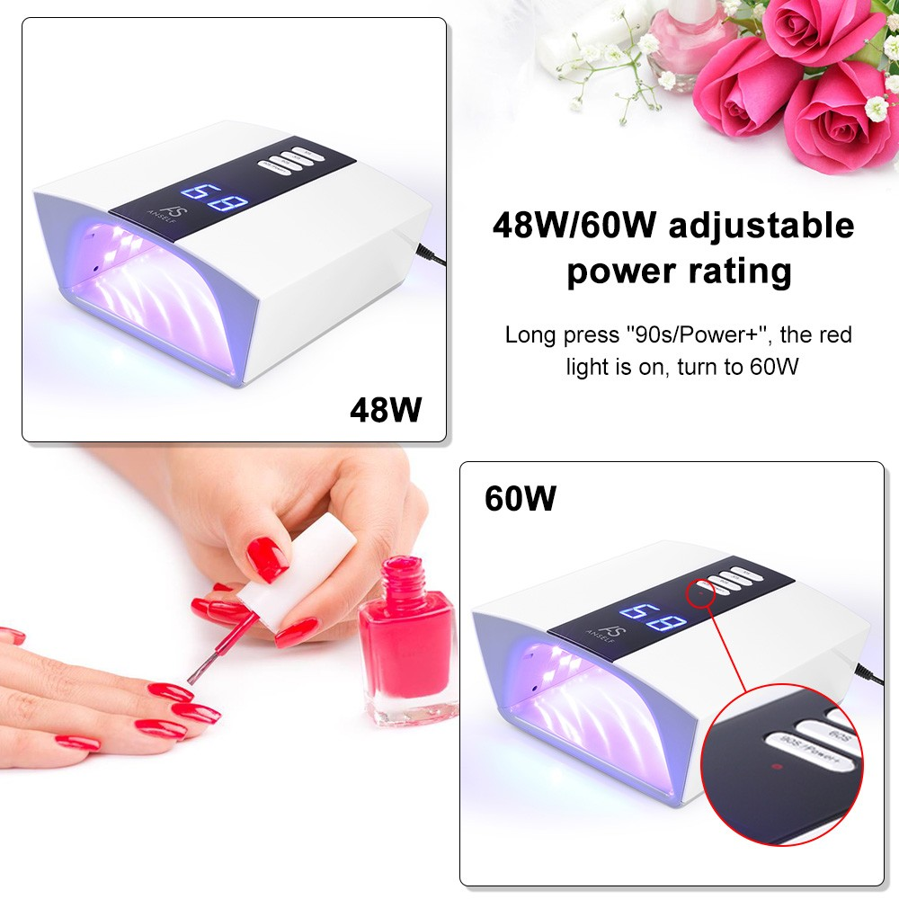 Anself 48W/60W Adjustable UV LED Nail Lamp Professional Nail Gel ...