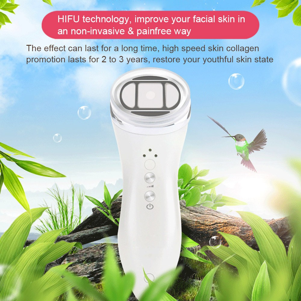 Mini HIFU Facial Massager Portable Anti-aging Face Massager RF LED Skin  Rejuvenation Machine Anti-wrinkle Face Lift Tightening Machine EU Plug