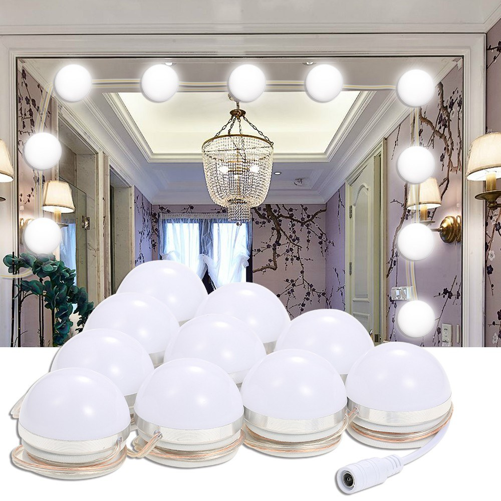 dimmable light fixture gadget city led vanity mirror lights kit with dimmable light bulbs lighting fixture strip for makeup table set in dressing room e plug sales online eu