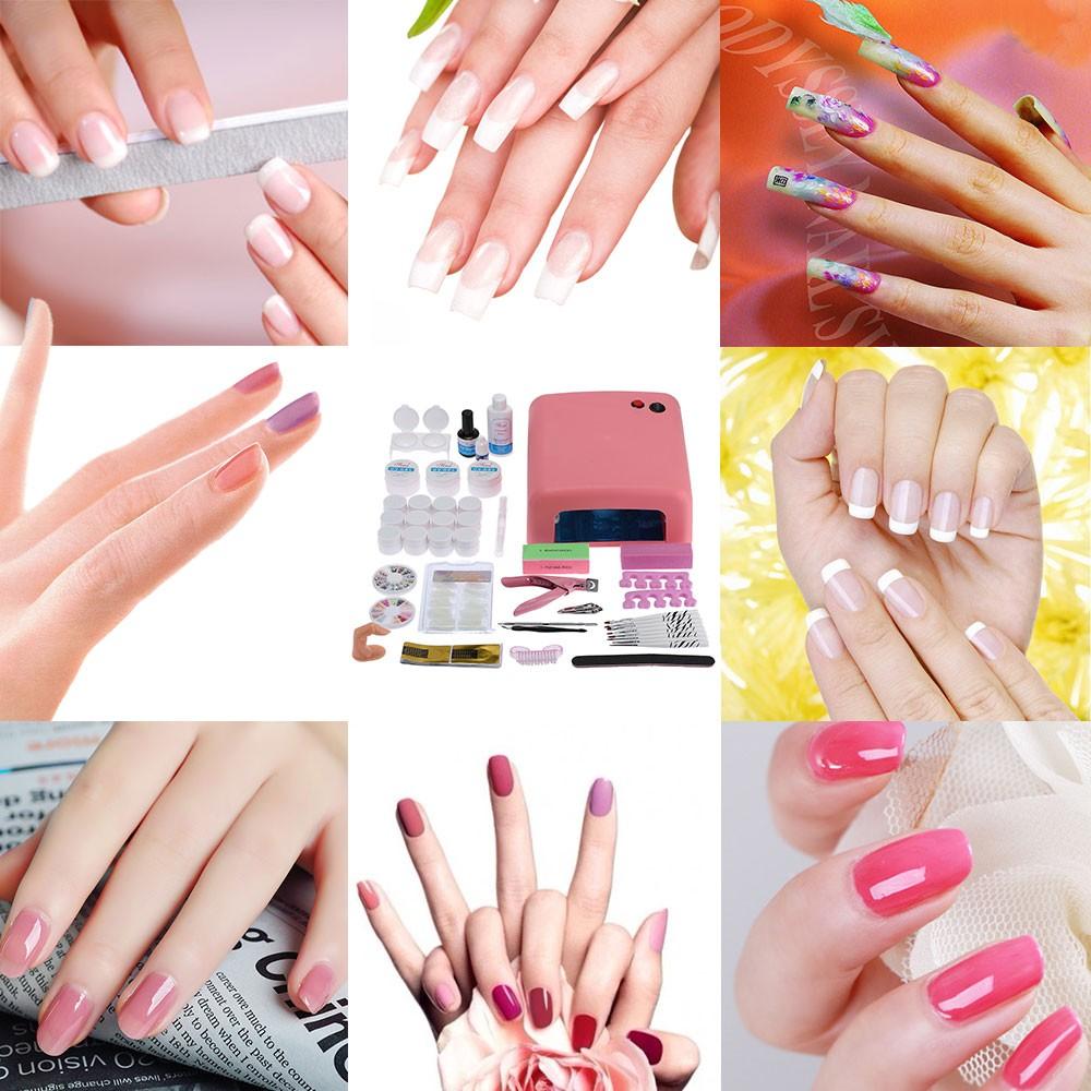 Professional Nail Art Manicure Decoration 36W Lamp UV Gel Tool Brush ...