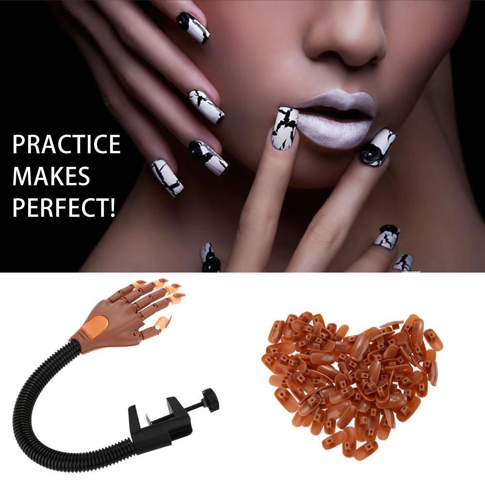 Adjustable Nail Art Model Hand False Nails Matched Practice Hand ...