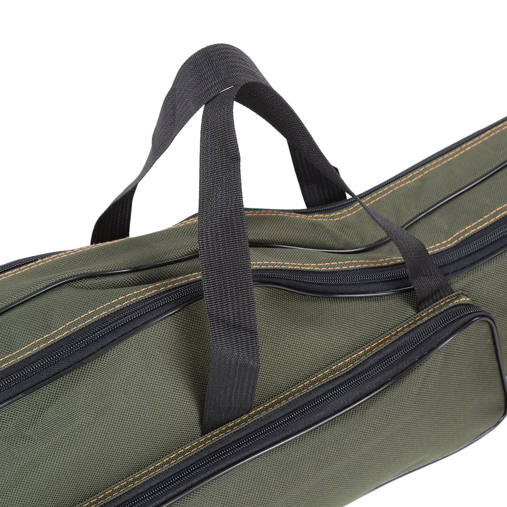 Portable folding fishing rod carrier canvas fishing pole for Fishing rod tote