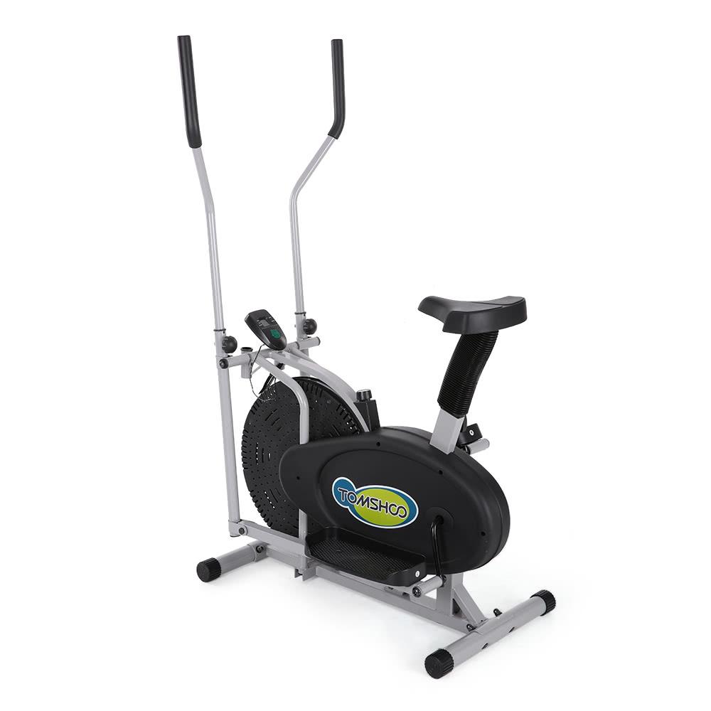Elliptical Road Bike Cost: 2 In 1 Exercise Bike Height Adjustable Elliptical Machine