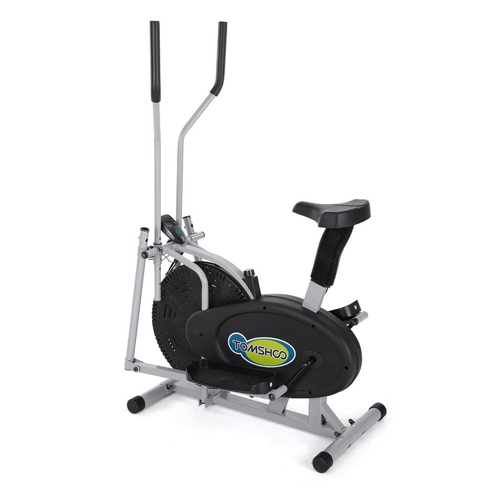 2 In 1 Exercise Bike Height Adjustable Elliptical Machine