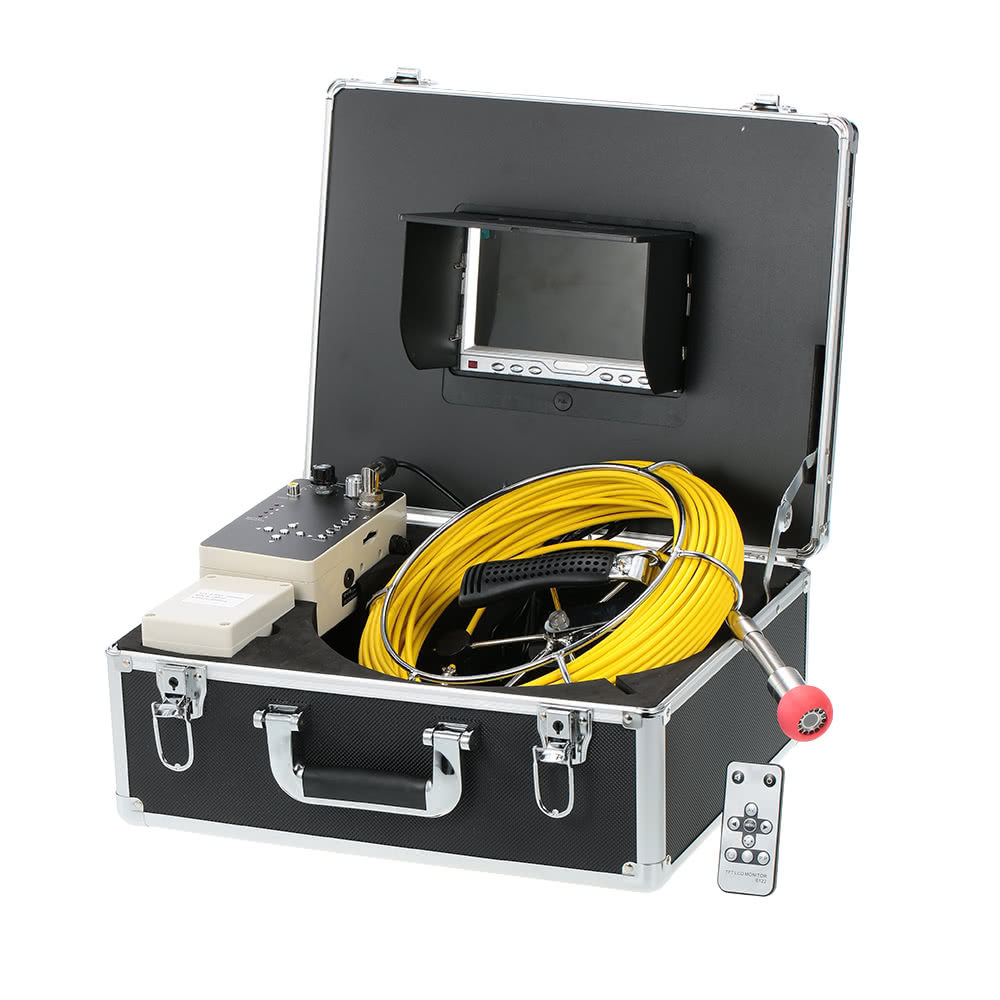 30m Drain Pipe Sewer Inspection Video Camera 7 Lcd Display Us X 5 Core Cable Wiring Wire Trailer Parts Lights