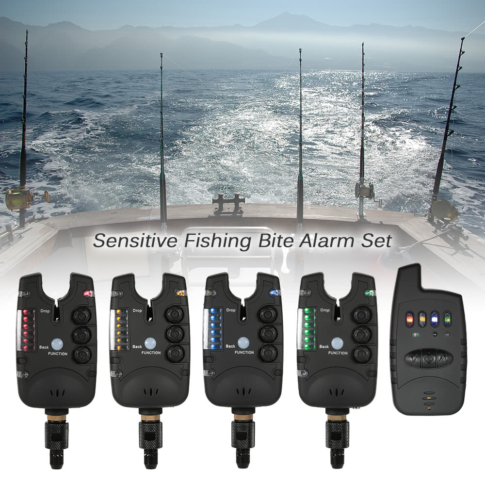 Lixada electronic fishing bite alarm set with 1 receiver for Fishing bite alarms