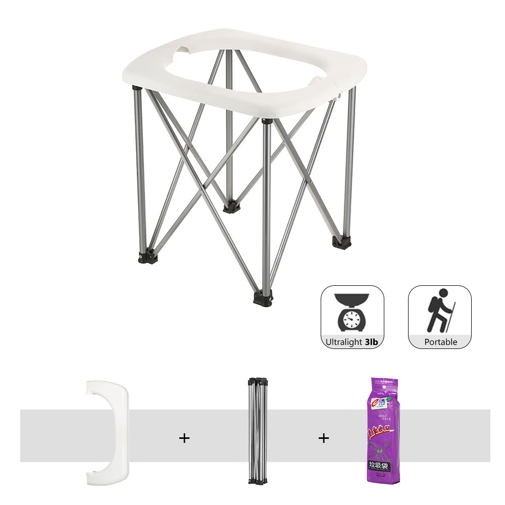 Outdoor Portable Folding Toilet Lightweight Comfortable Toilet Seat ...