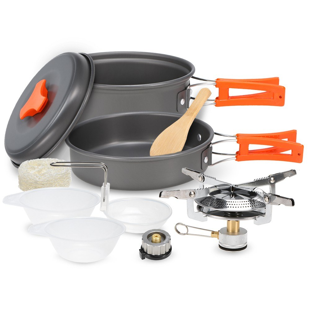 Lightweight Aluminum Outdoor Stove Pot Pan
