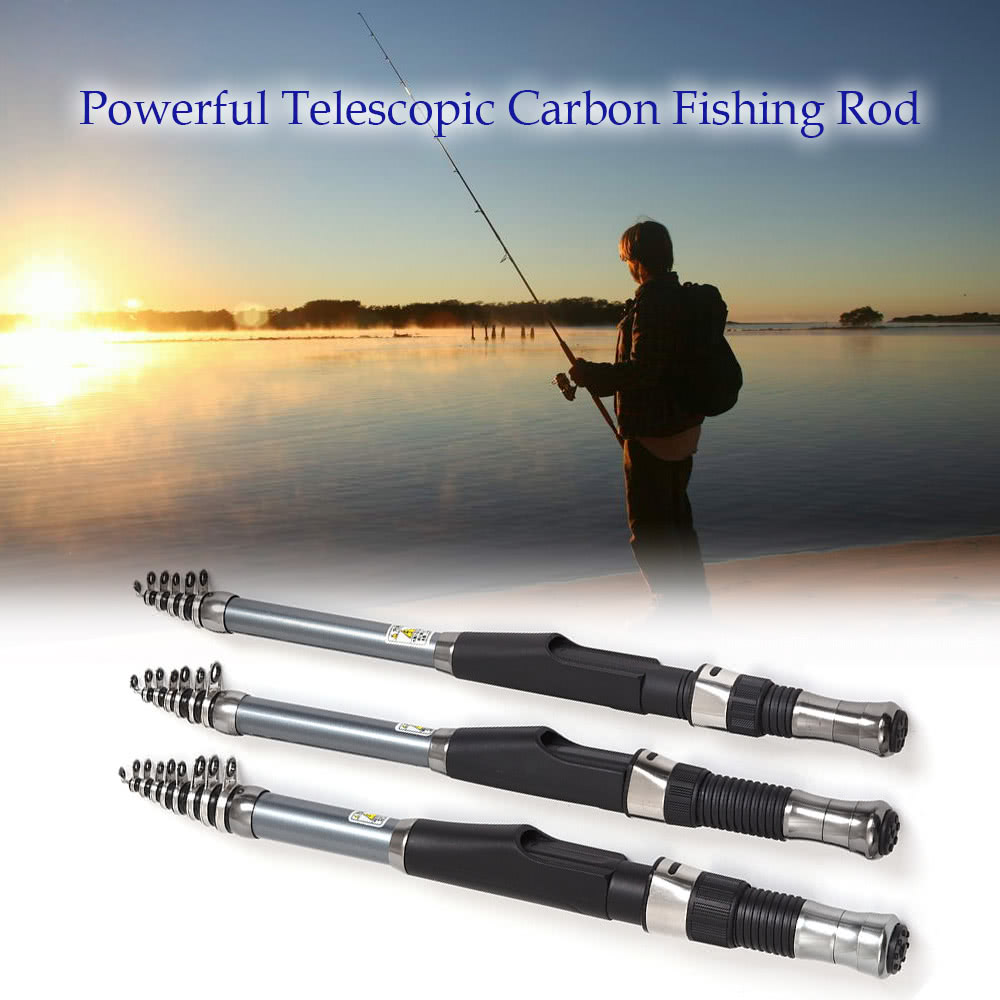 Telescopic carbon fiber fishing rod retractable fishing for Carbon fiber fishing rod