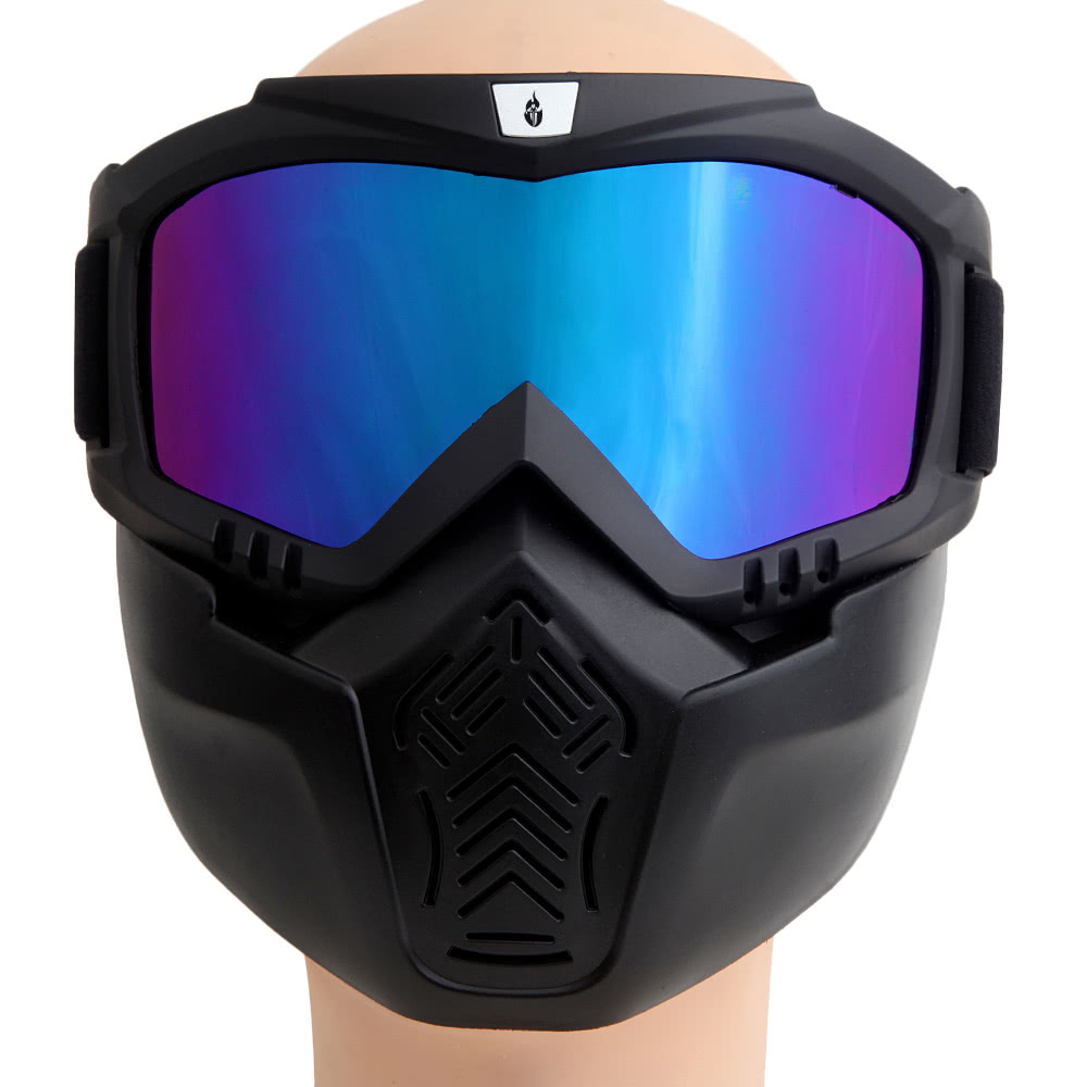 98ce67b5668 WOLFBIKE Unisex MTB Biking Cycling Glasses Goggles Skiing Glasses Windproof  Glasses Mask Face Detachable Mask Motorcycle Glasses Snowboard Skate  Eyeglasses ...