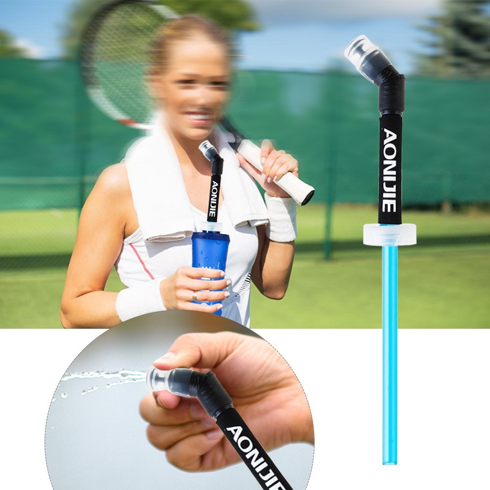 Sports Water Bottle Long Straw: Drinking Straw For AONIJIE Soft Running Water Bottle Straw