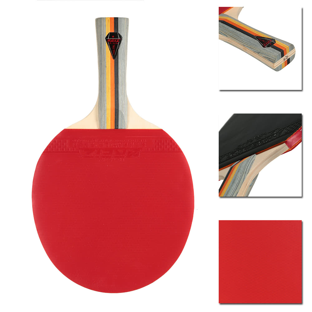 1pcs Sports Ping Pong Paddle Racket Long/Short Handle Dual-side Shake-hand  Pen-hold Looping-style Table Tennis Racket Bat with Case Pouch for Loop