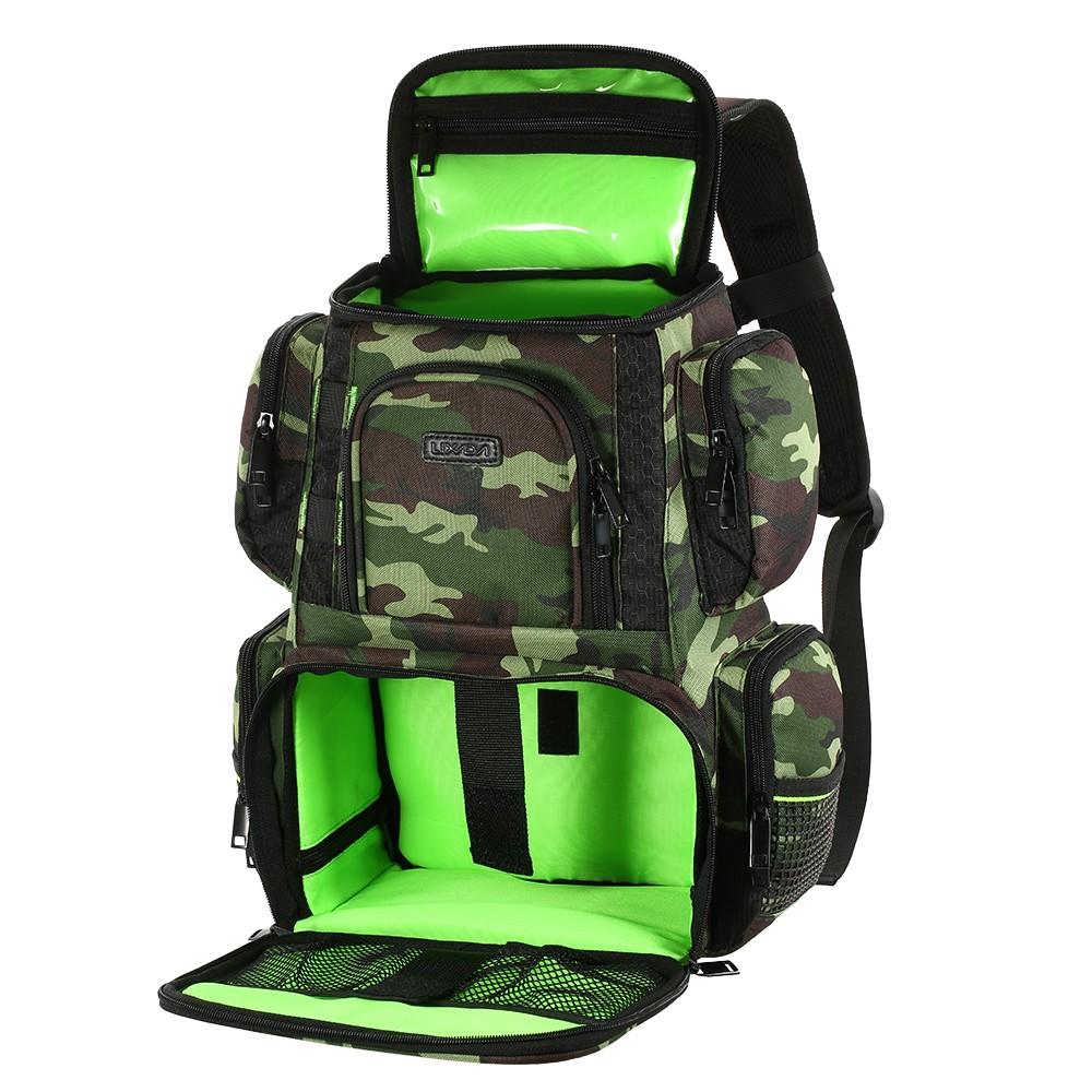 Lixada fishing tackle bag backpack fishing lures bait box for Fishing tackle box backpack