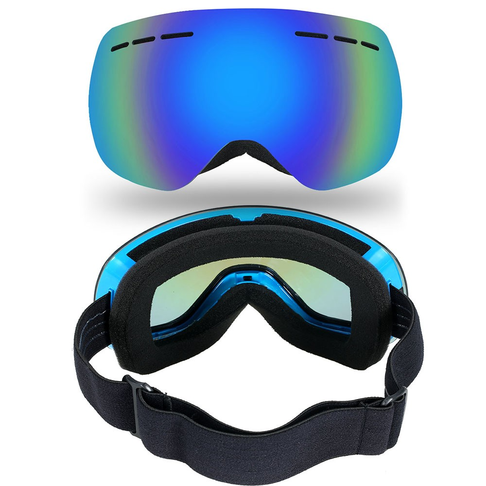 lixada lunettes de ski sans cadre hiver sports de neige lunettes de snowboard ventil anti bu e. Black Bedroom Furniture Sets. Home Design Ideas