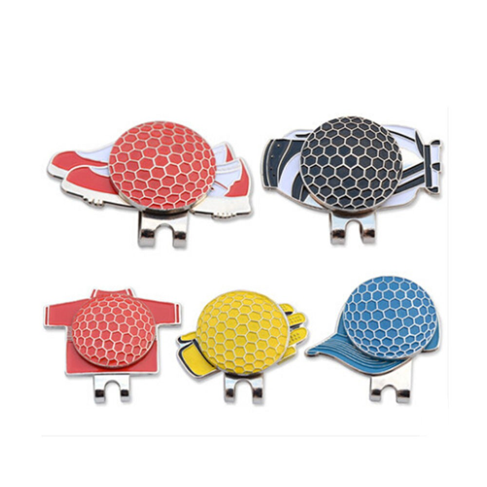5PCS Professional Golf Cap Clip Magnetic Hat Clips Metal Golf Ball Markers Golf Sports Accessory