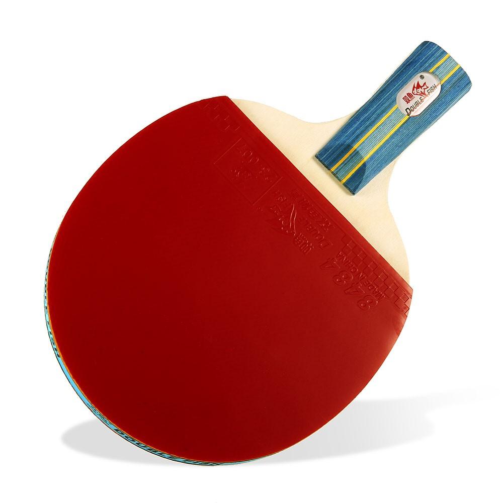 41fe4bb28 Conjunto de raquetes de tênis de mesa de peixe duplo com 2 pás de pingue- pongue e 3 bolas de pingue-pongue