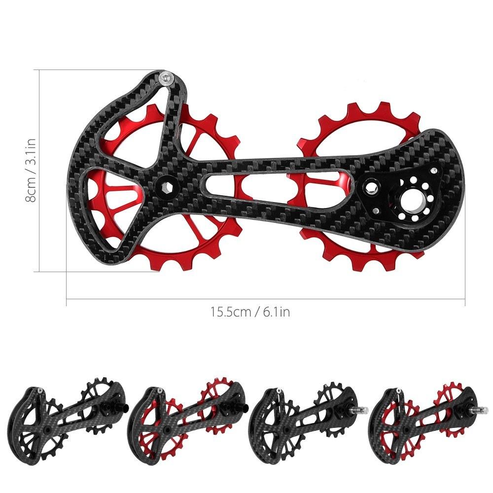 16T Bicycle Bike Ceramic Bearing Jockey Pulley Wheel Set Carbon