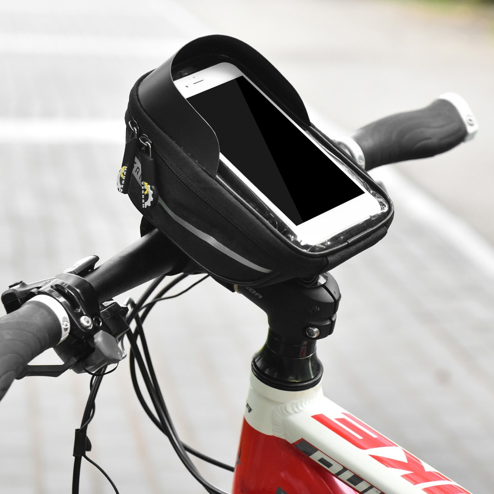 Bicycle Phone Mount Bags Waterproof Front Frame Top Tube Bag With Touch Screen Phone Holder Case Cycling Bike Phone Tool Storage Bag Pack