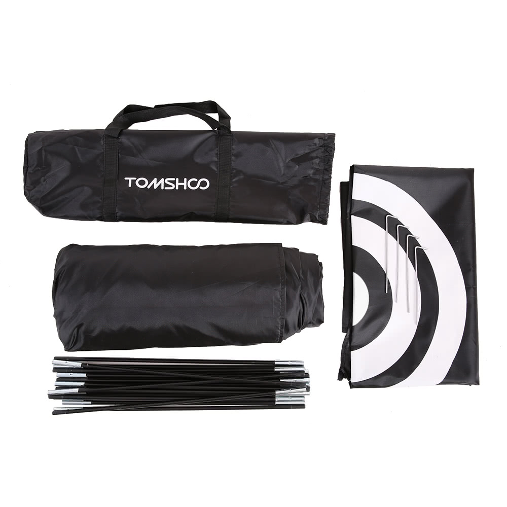 Folded Tent Size 63 * 10 * 10cm / 24.8 * 3.9 * 3.9in. Weight 2.85kg / 6.3lb. Package List 1 * Tent 1 * Backdrop 1 * Set of Poles 4 * Stake 1 * Carry Bag  sc 1 st  Tomtop.com & TOMSHOO 10u0027 Golf Practice Hit Net Hitting Cage Training Tent with ...