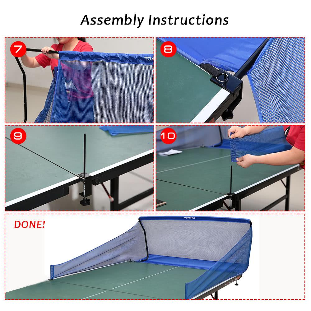 TOMSHOO Table Tennis Catch Net Ping Pong Ball Training ...