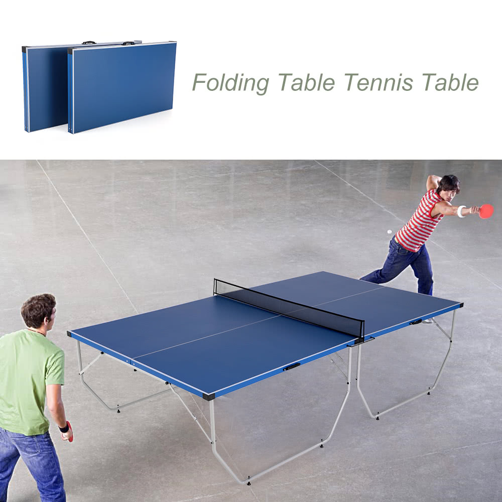 Lixada Folding Table Tennis Table Ping Pong Table Indoor / Sales Online  Blau   Tomtop