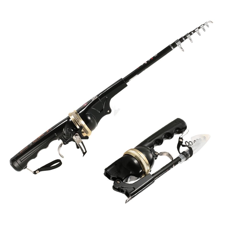 Lixada 158cm folding mini fishing rod foldable telescopic for Foldable fishing rod