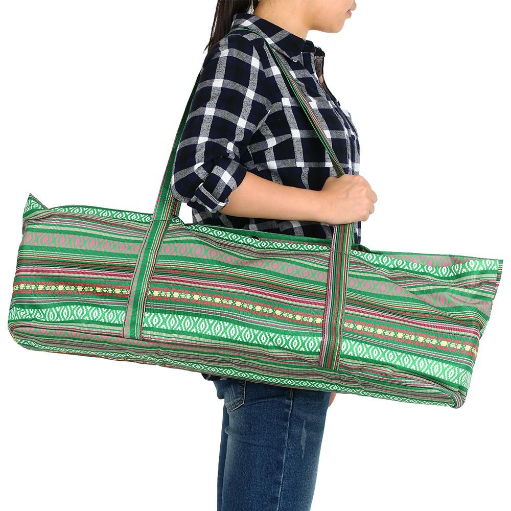 Yoga Mat Bags Yoga Tote Bag Carrier Stripe Printing Pattern with Pocket and  Zipper b52b0b8ee7860