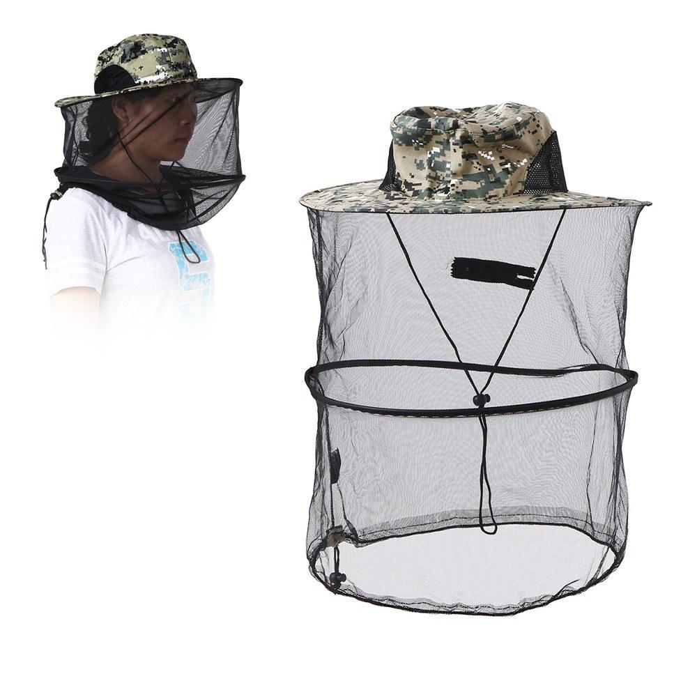 Sombrero repelente de mosquitos Cubierta protectora de la máscara Insecto  Insecto Repelente de abeja Cabeza Malla 54b3f5ada3f
