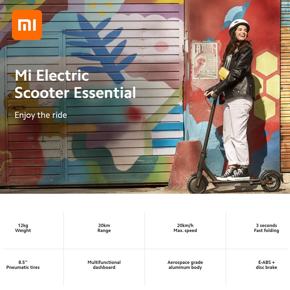 Best Global Version Xiaomi Mi Electric Scooter Essential Lite 1 Sale Online Shopping Cafago Com