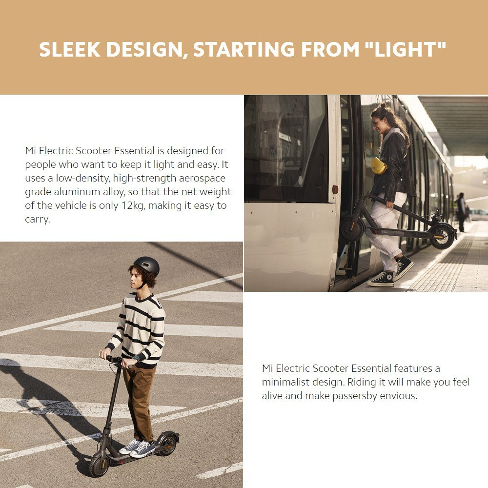 Best Global Version Xiaomi Mi Electric Scooter Essential Lite 1 Sale Online Shopping Cafago Com