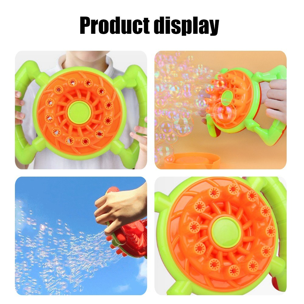 Electric Bubbles Blower Funny Fan Toys For Kids Birthday Gift Outdoor Playing Bubble Toy