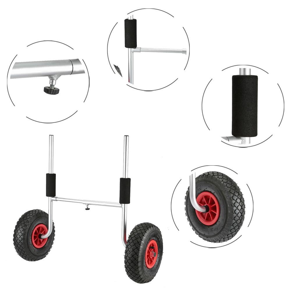 50kg ladekapazit t abnehmbare kayak trolley energiespar zweir drige kajakhalter wagen schwarz. Black Bedroom Furniture Sets. Home Design Ideas