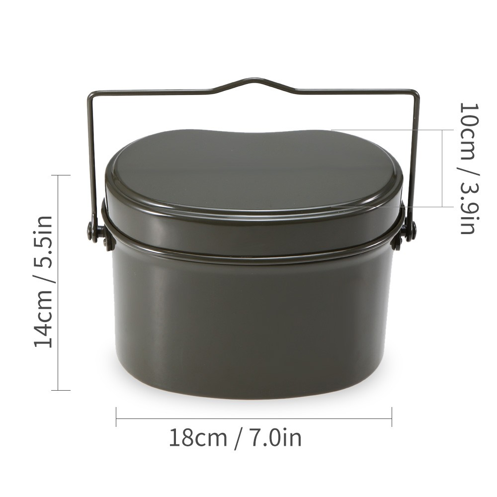 Outdoor Mess Tin Set Military Lunch Box