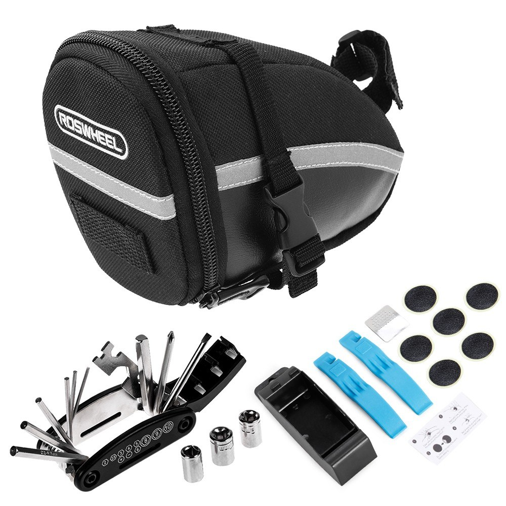 Bike Repair Tool Kits Bicycle Saddle Bag Cycling Seat Pack